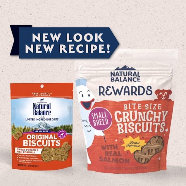 Natural Balance L.I.T. Limited Ingredient Treats Small Breed Sweet Potato & Fish Formula Dog Treats, 8 oz. - Carousel image #1