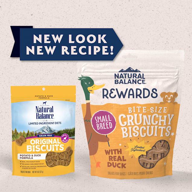 Natural Balance L.I.T. Limited Ingredient Treats Small Breed Potato & Duck Formula Dog Treats, 8 oz. - Carousel image #1