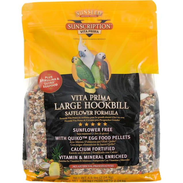 Sun Seed Vita Prima Sunscription Safflower Formula Large Hookbill Food, 4.5 lbs. - Carousel image #1
