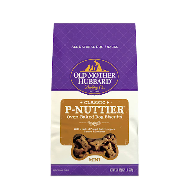 Old Mother Hubbard Crunchy Classic Natural P-Nuttier Mini Dog Biscuits, 20 oz - Carousel image #1