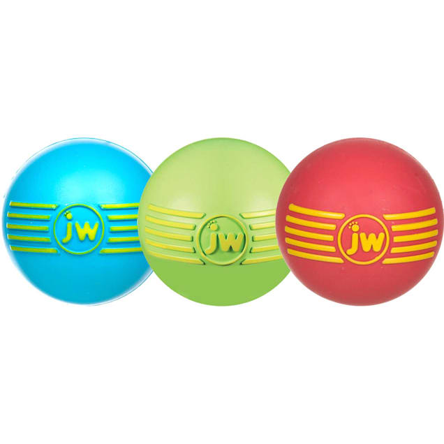 JW Pet iSqueak Rubber Ball Dog Toy, Small - Carousel image #1