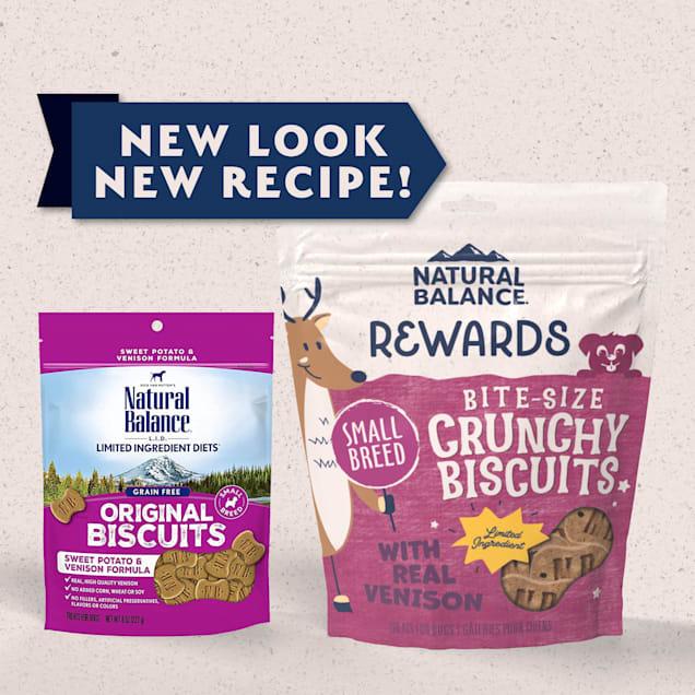 Natural Balance L.I.T. Limited Ingredient Treats Small Breed Sweet Potato & Venison Formula Dog Treats, 8 oz. - Carousel image #1