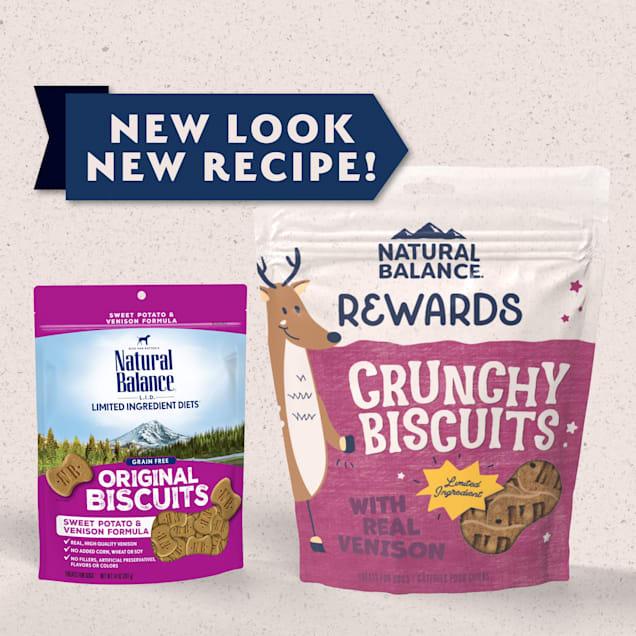 Natural Balance L.I.T. Limited Ingredient Treats Sweet Potato & Venison Formula Dog Treats, 14 oz. - Carousel image #1