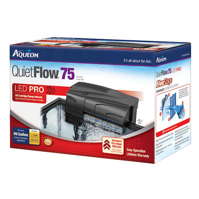 Aqueon QuietFlow LED PRO 75 Aquarium Power Filter - Carousel image #1