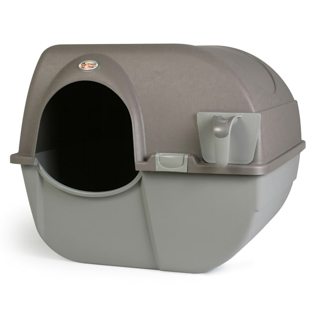 Omega Paw Roll 'n Clean Self Cleaning Litter Box for Cats, Large - Carousel image #1