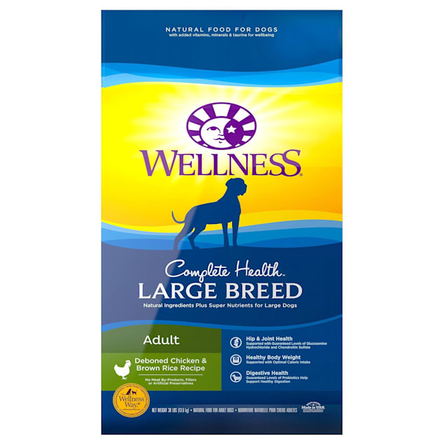 Wellness Complete Health Natural Large Breed Health Recipe Dry Dog Food, 30 lbs. - Carousel image #1