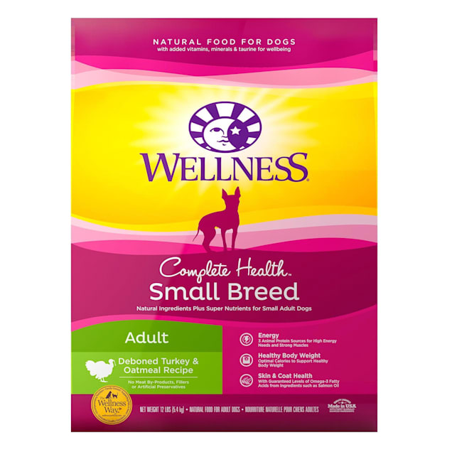 Wellness Complete Health Natural Small Breed Turkey and Oatmeal Recipe Dry Dog Food, 12 lbs. - Carousel image #1