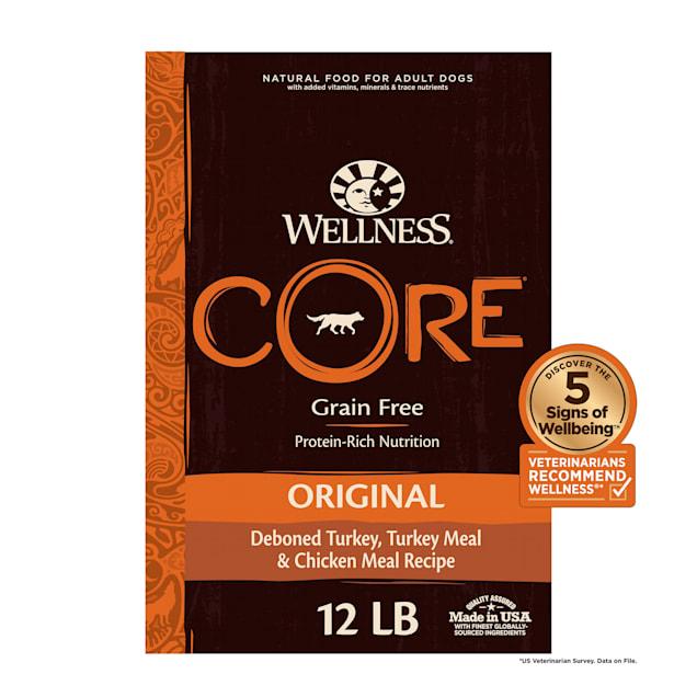 Wellness CORE Natural Grain Free Original Turkey & Chicken Dry Dog Food, 12 lbs. - Carousel image #1