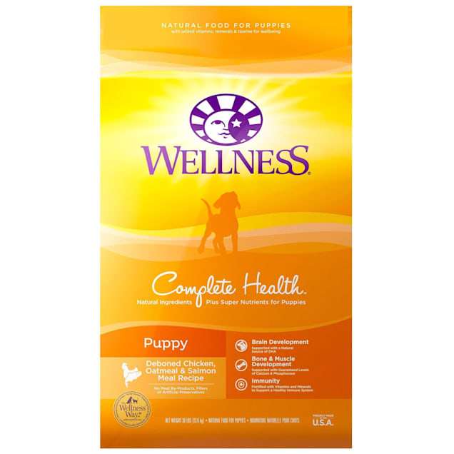 Wellness Complete Health Natural Puppy Health Recipe Dry Dog Food, 30 lbs. - Carousel image #1
