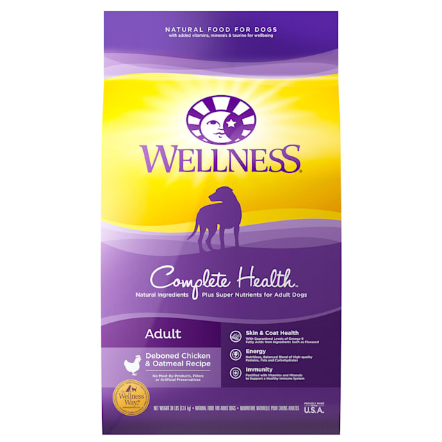 Wellness Complete Health Natural Chicken Recipe Dry Dog Food, 30 lbs. - Carousel image #1