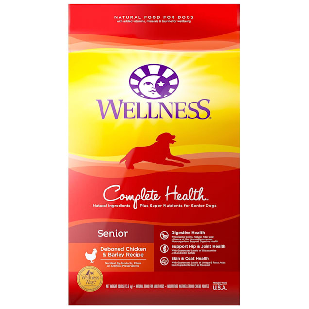 Wellness Complete Health Natural Senior Health Recipe Dry Dog Food, 30 lbs. - Carousel image #1