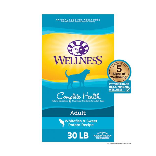Wellness Complete Health Natural Whitefish & Sweet Potato Recipe Dry Dog Food, 30 lbs. - Carousel image #1