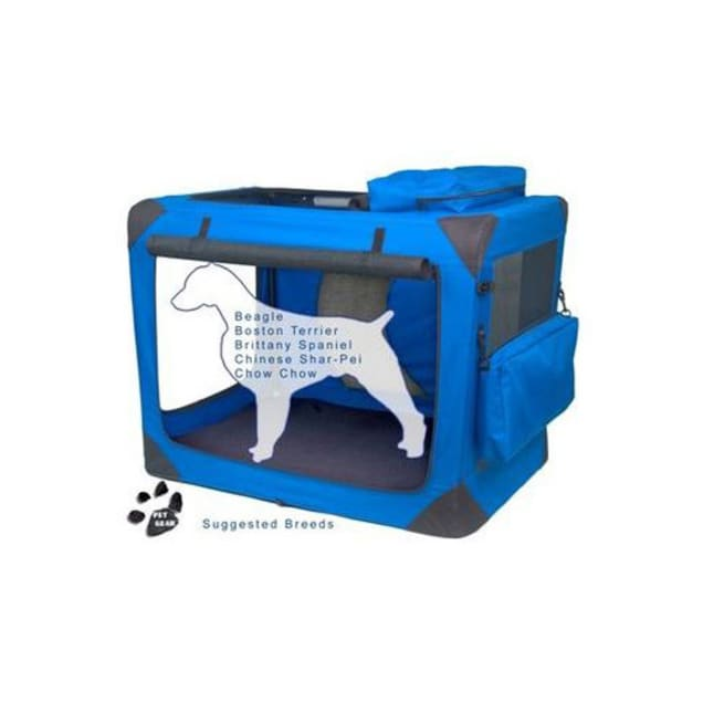 """Pet Gear Generation II Blue Deluxe Portable Soft Dog Crate, 35.75"""" L X 23.5"""" W X 27"""" H - Carousel image #1"""
