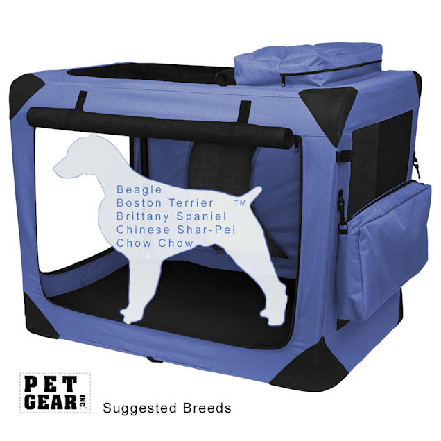 """Pet Gear Generation II Lavender Deluxe Portable Soft Dog Crate, 29.5"""" L X 22"""" W X 24"""" H - Carousel image #1"""