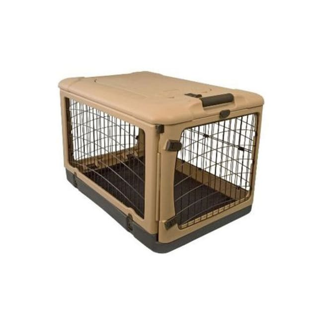 """Pet Gear The Other Door Tan & Black Steel Dog Crate, 42"""" L X 28"""" W X 28"""" H - Carousel image #1"""