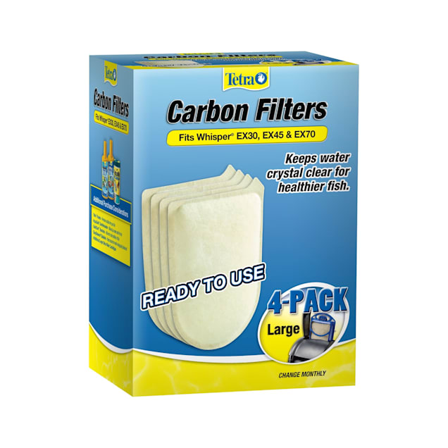 Tetra Large Replacement Carbon Filters for EX30, EX45, and EX70 Filtration Systems, Pack of 4 - Carousel image #1