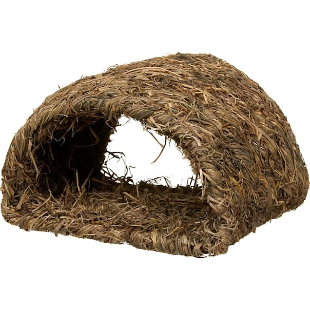 Peter's Woven Grass Hide-A-Way Hut for Rabbits - Carousel image #1