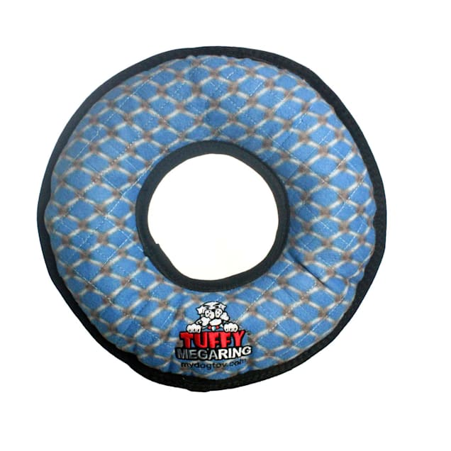 Tuffy's Mega Ring Blue Chain Link Dog Toy, Large - Carousel image #1
