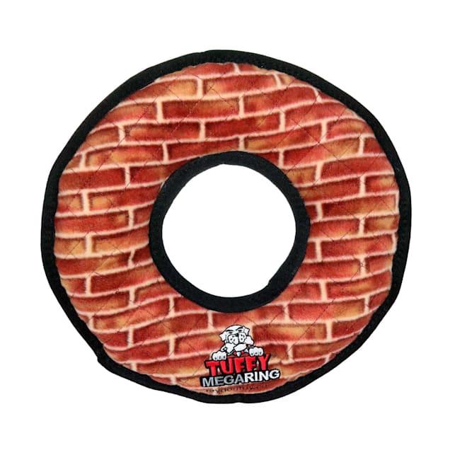 Tuffy's Mega Ring Red Brick Dog Toy, Large - Carousel image #1