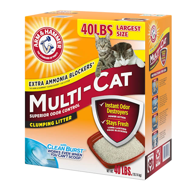 Arm & Hammer Scented Multi-Cat Clumping Litter, 40 lbs. - Carousel image #1