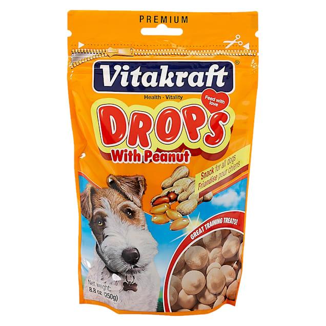 Vitakraft Drops with Peanut Dog Treats, 8.8 oz. - Carousel image #1