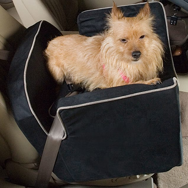 Snoozer Black Luxury Lookout I Dog Car Seat, Small - Carousel image #1