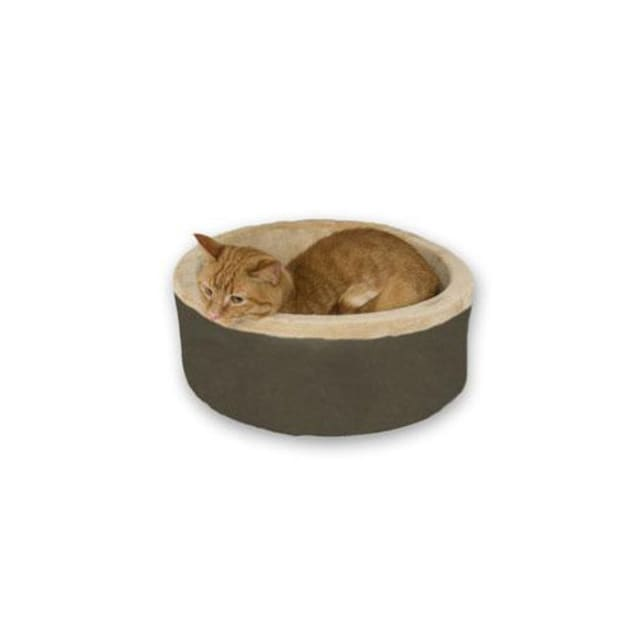 """K&H Thermo-Kitty Bed in Mocha, 20"""" L x 20"""" W - Carousel image #1"""