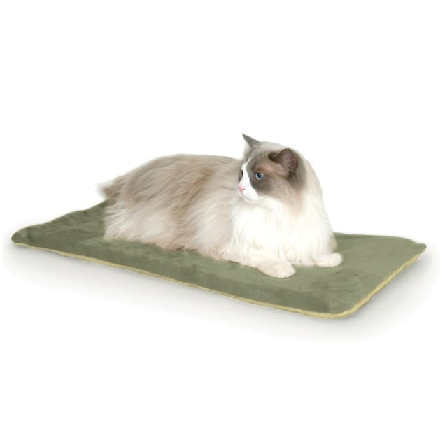 """K&H Thermo-Kitty Mat in Sage, 12.5"""" L x 25"""" W - Carousel image #1"""