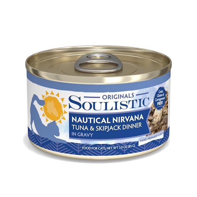 Soulistic Originals Nautical Nirvana Tuna & Skipjack Dinner in Gravy Wet Cat Food, 3 oz., Case of 12 - Carousel image #1