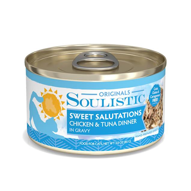Soulistic Originals Sweet Salutations Chicken & Tuna Dinner in Gravy Wet Cat Food, 3 oz., Case of 12 - Carousel image #1
