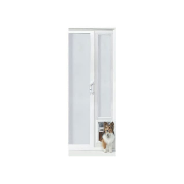 "Perfect Pet VIP 78"" Vinyl Patio Door in White, 16IN x 2.5IN x 79IN - Carousel image #1"