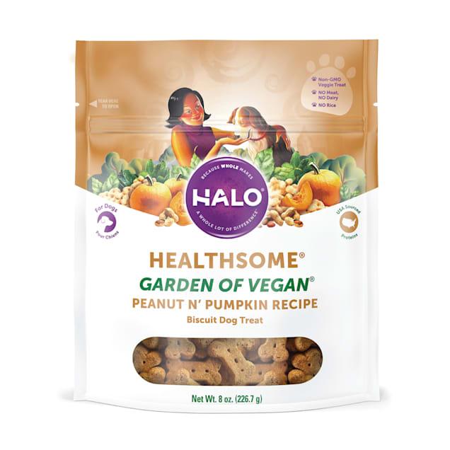 Halo Healthsome Peanut 'n Pumpkin Dog Biscuits, 8 oz. - Carousel image #1