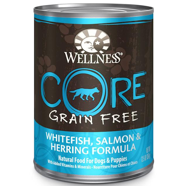 Wellness CORE Natural Grain Free Salmon, Whitefish & Herring Recipe Wet Dog Food, 12.5 oz., Case of 12 - Carousel image #1