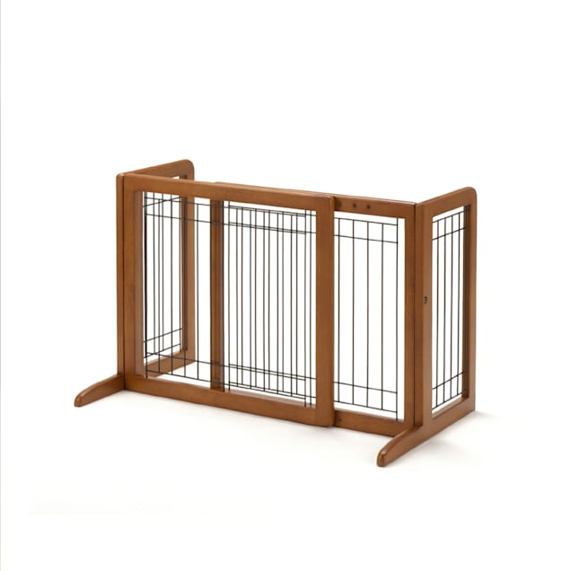 "Richell Freestanding Step-Over Pet Gate, 26.4""-40.2""L X 17.7""W X 20.1""H - Carousel image #1"