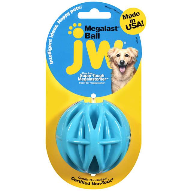 "JW Pet Megalast Ball Dog Toy, Medium, 3"" D - Carousel image #1"