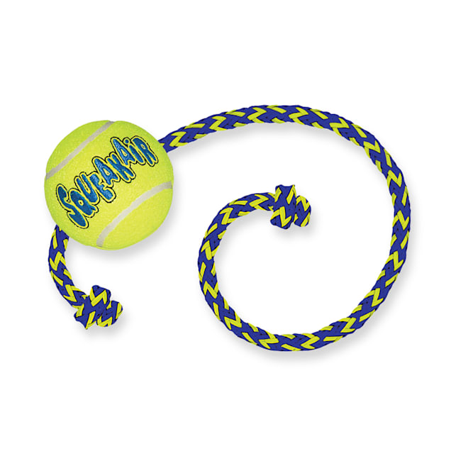 Air KONG Squeaker Ball with Rope Dog Toy, Medium - Carousel image #1