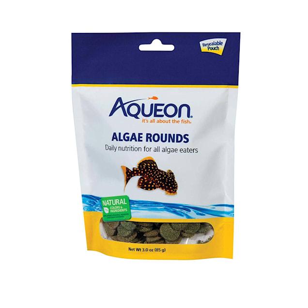 Aqueon Algae Rounds Algae Eater Fish Food, 3 oz. - Carousel image #1