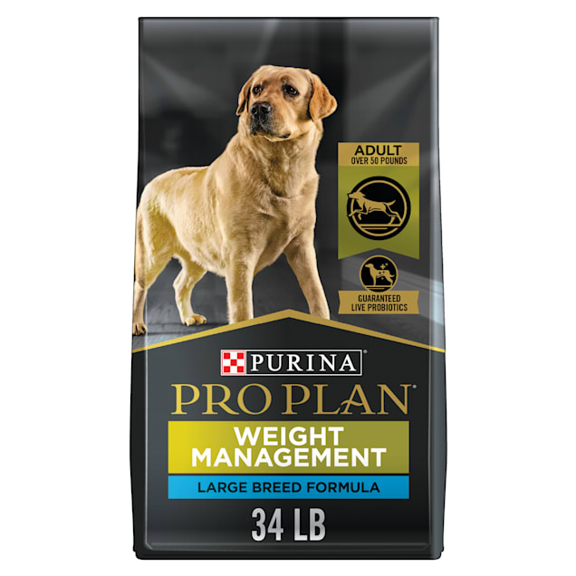 Purina Pro Plan Low Fat Focus Weight Management Chicken & Rice Formula Large Breed Dry Dog Food, 34 lbs. - Carousel image #1