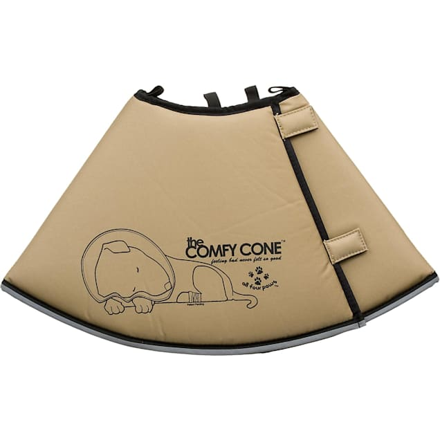All Four Paws Tan Comfy Cone, Large - Carousel image #1