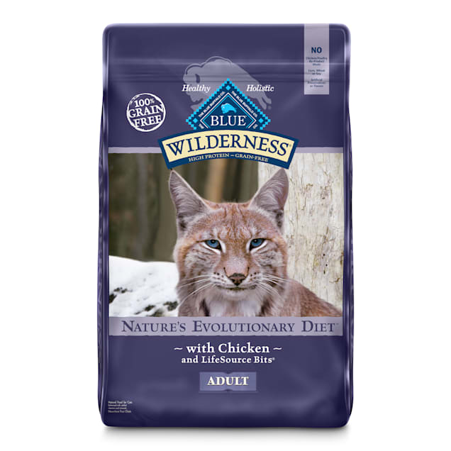 Blue Buffalo Wilderness Natural Adult High Protein Grain Free Chicken Dry Cat Food, 12 lbs. - Carousel image #1