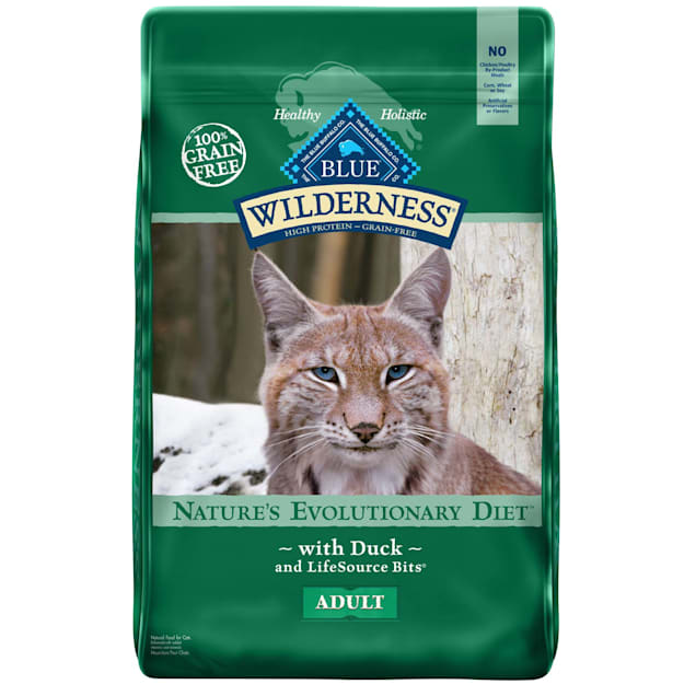 Blue Buffalo Wilderness Natural Adult High Protein Grain Free Duck Dry Cat Food, 11 lbs. - Carousel image #1