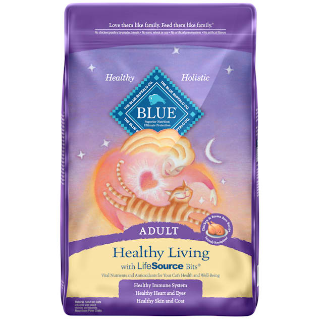 Blue Buffalo Healthy Living Natural Adult Chicken & Brown Rice Dry Cat Food, 15 lbs. - Carousel image #1