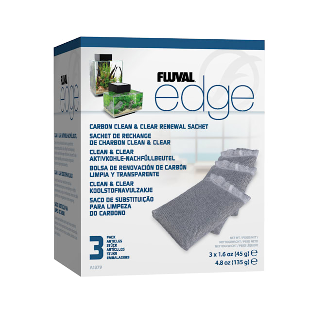 Fluval Edge Carbon Clean & Clear Renewal Sachet, Pack of 3 - Carousel image #1
