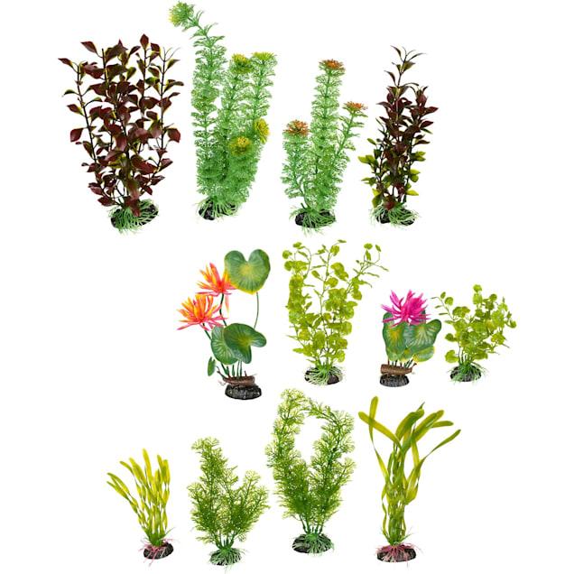 Imagitarium Variety Pack Plastic Aquarium Plants - Carousel image #1