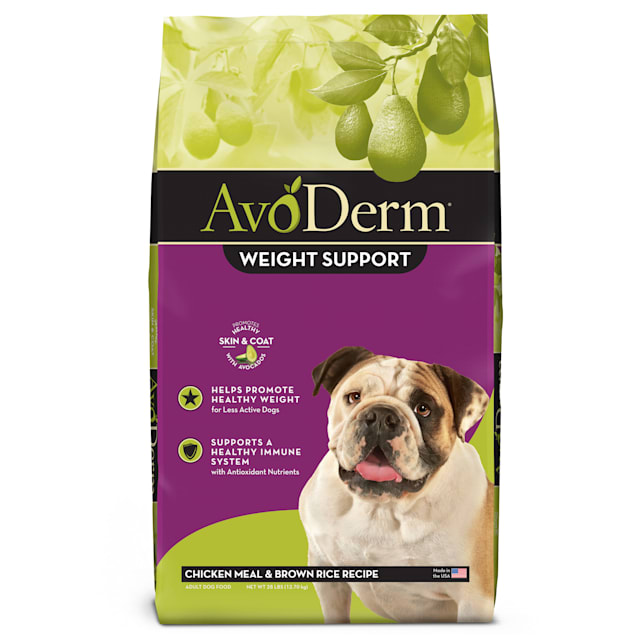 AvoDerm Weight Support Chicken Meal & Brown Rice Recipe Dry Dog Food, 28 lbs. - Carousel image #1