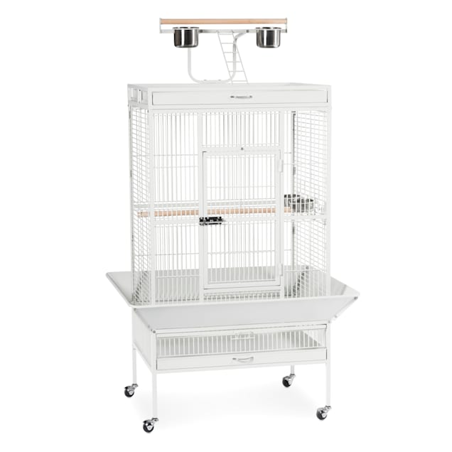 Prevue Pet Products Signature Select Series Wrought Iron Bird Cage in Chalk White - Carousel image #1