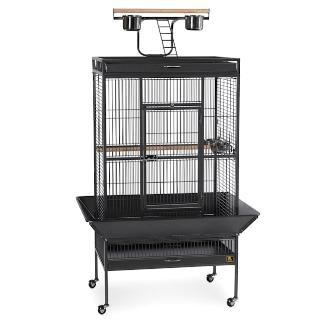 Prevue Pet Products Signature Select Series Wrought Iron Bird Cage in Black - Carousel image #1