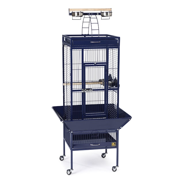 Prevue Pet Products Signature Select Series Wrought Iron Bird Cage in Metallic Cobalt, Small - Carousel image #1