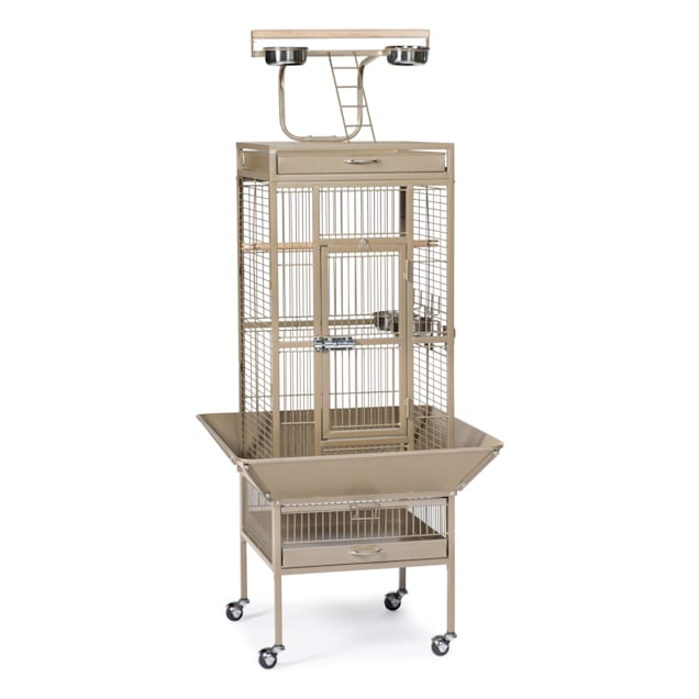 Prevue Pet Products Signature Select Series Wrought Iron Bird Cage in Coco Brown - Carousel image #1