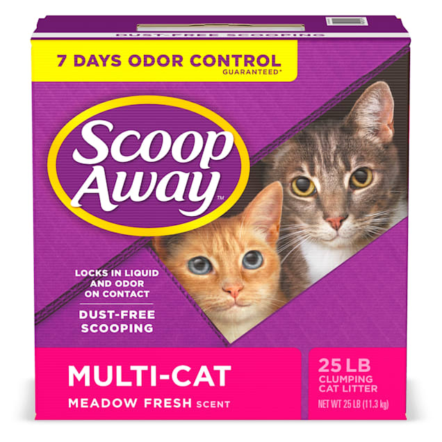 Scoop Away Meadow Fresh Scent Multi-Cat Clumping Cat Litter, 25 lbs. - Carousel image #1